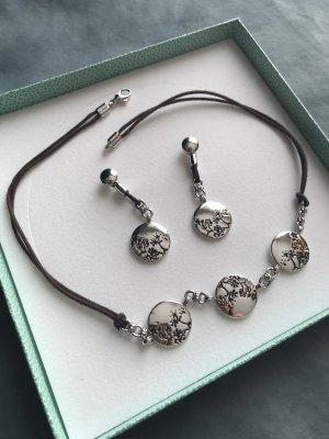 Pierre Lang Ketting donkerbruin-zilver