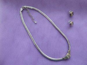 Pierre Lang Colliers ras du cou argenté bronze