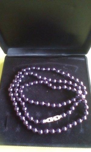 Pierre Lang Collar de perlas violeta oscuro-violeta azulado