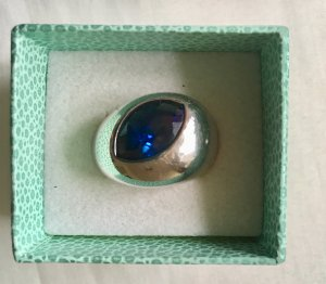 Pierre Lang Zilveren ring blauw Edelstaal