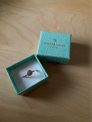 Pierre Lang Ring, Roségold mit schönen Steinen, Größe 7