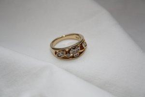 Pierre Lang Ring vergoldet mit Strasssteinen / Modeschmuck / Gr. 54 / NEU !