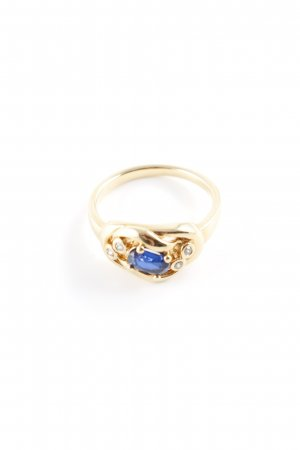 Pierre Lang Statementring goldfarben-dunkelblau Elegant