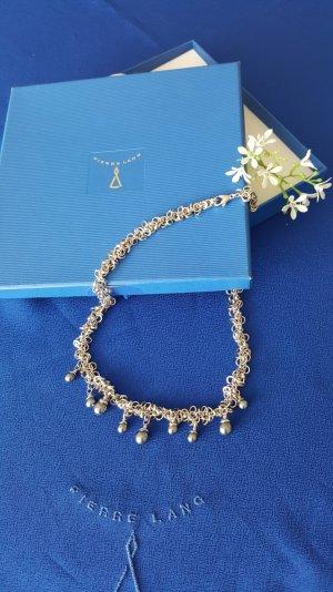 PIERRE LANG zauberhaft leichtes 925er Sterling-Silber-Collier mit dunklen Perlen