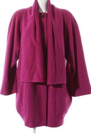 Pierrette B. Wollmantel magenta Street-Fashion-Look