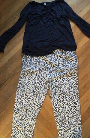 Pyjama blauw Katoen
