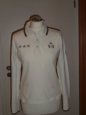 Pikeur Poloshirt mit langen Ärmeln, Gr.M ,wollweiß