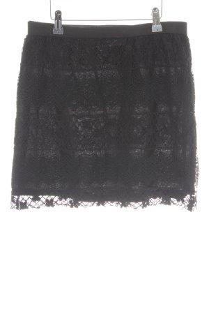 PIKO 1988 Spitzenrock schwarz florales Muster Elegant