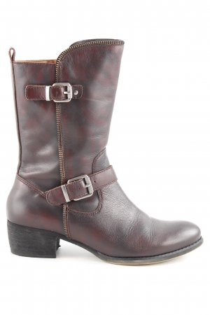 Pikolinos Biker Boots brown red biker look