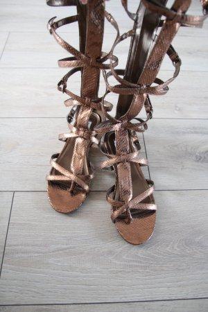 Pilar Burgos Römersandalen hochwertig boho neu rosegold bronze