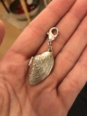Pilgrim Ciondolo argento-bianco sporco