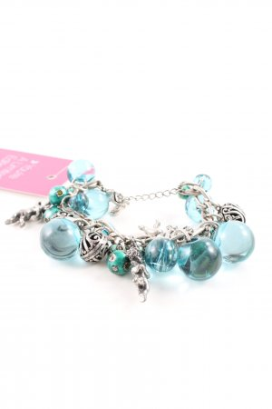 Pilgrim Bracelet turquoise-silver-colored business style