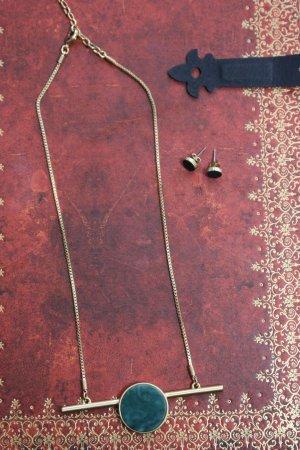 Pilgrim Halskette Schmuckstein grün