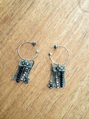 Pilgrim Ohrringe schwarze Perlen