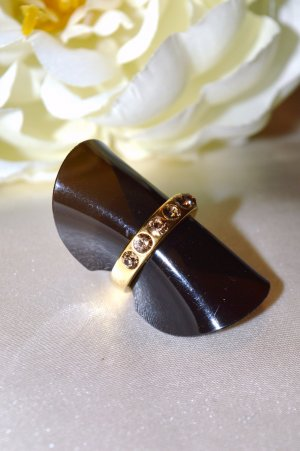 Pilgrim Ring 50 Gold Strass Used