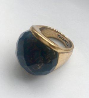 PILGRIM Ring mit braun-schwarz-schimmernder Halbedelstein-Kugel, in Gr.59