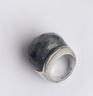 PILGRIM - Ring mit kantig geschliffener Halbedelstein-Kugel in Gr.53