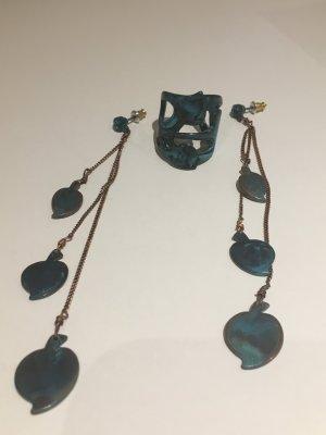 PILGRIM Set Ohrringe und Ring, NEU und ungetragen! Boho