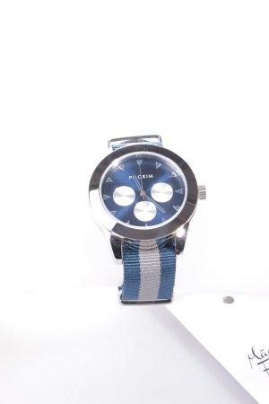 Pilgrim Uhr blau-grau
