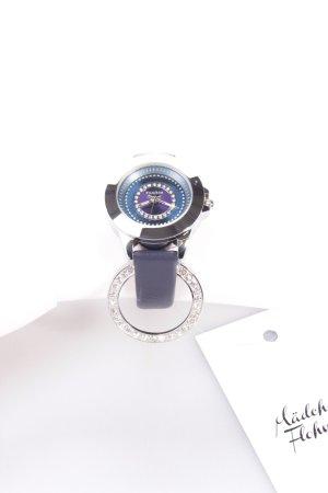 Pilgrim Uhr blaues Lederarmband