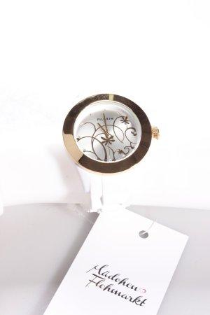 Pilgrim Uhr weiß-gold