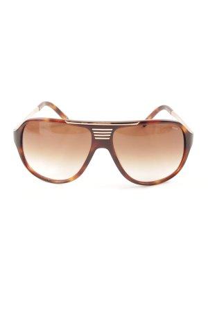Pilot Brille goldfarben-braun Farbverlauf Casual-Look