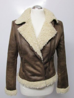 H&M Fake Fur Jacket multicolored mixture fibre