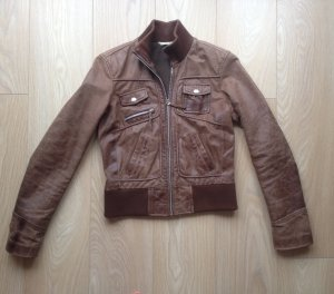 Promod Leather Jacket multicolored leather