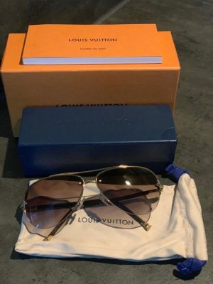 Louis Vuitton Aviator Glasses oatmeal-gold-colored