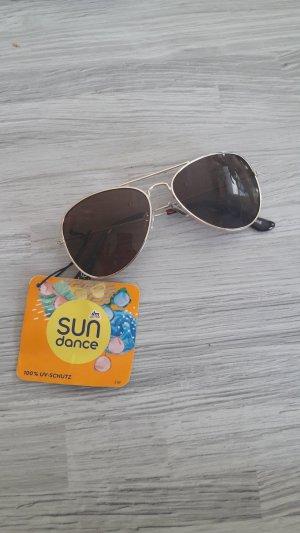 Gafas de sol ovaladas color oro