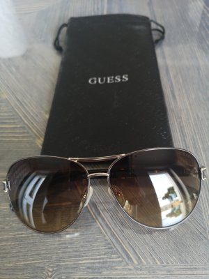 Guess Oval Sunglasses dark brown