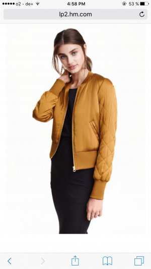 H&M Bomber Jacket gold-colored