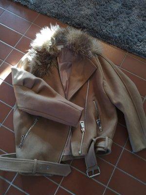 H&M Flight Jacket light brown-brown