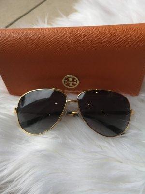 7606a8411e436 Tory Burch Oval Sunglasses black-gold-colored
