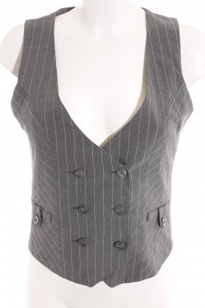 Pimkie Waistcoat grey-natural white pinstripe Brit look