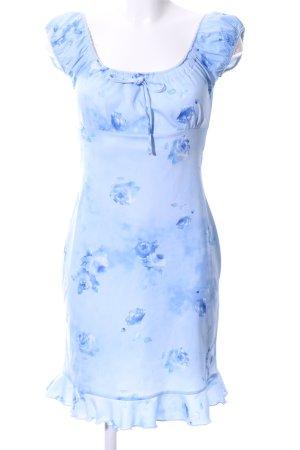 Pimkie Babydollkleid blau-weiß Blumenmuster Casual-Look