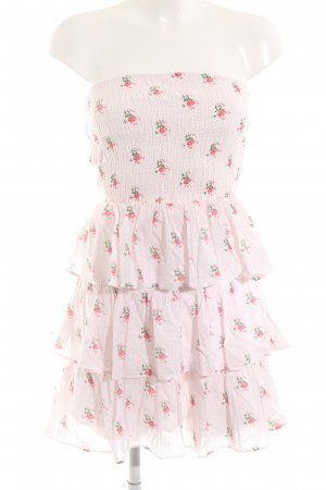 Pimkie Bandeau Dress pink flower pattern casual look
