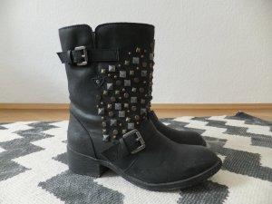 Pimkie Biker Boots Nieten 38 37,5 Kunstleder studded