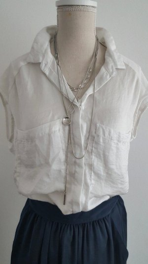 Pimkie Blusa sin mangas blanco