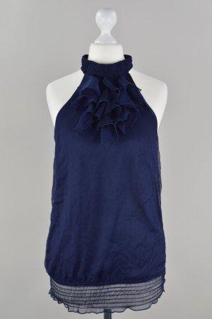 Pimkie Bluse mit Volant blau Größe 34