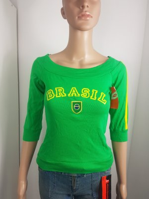 Pimkie Carmen shirt geel-groen Katoen