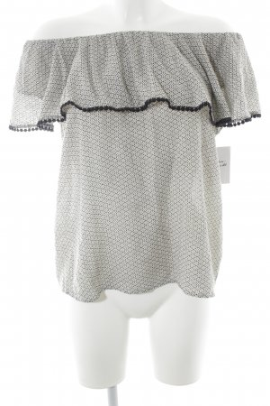 Pimkie Carmen Shirt natural white-dark blue mixed pattern casual look