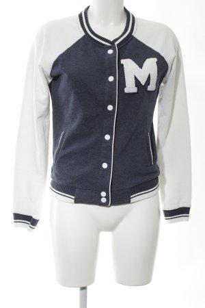 Pimkie College jack blauw-wit gestippeld atletische stijl