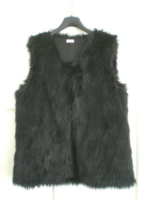 Pimkie Fur vest black fake fur