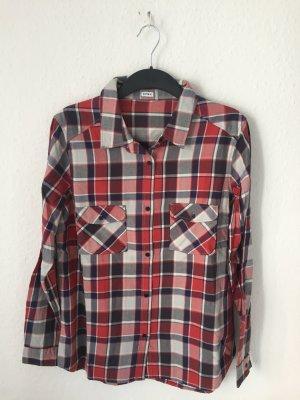 Pimkie Camisa de leñador blanco-rojo