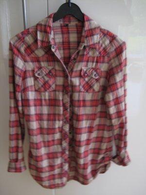 Pimkie Camisa de leñador rojo-marrón arena