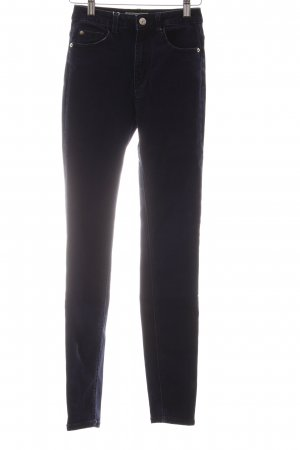 Pimkie High-Waist Hose dunkelblau Street-Fashion-Look