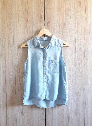 Pimkie Jeans Bluse Hemd Top blau Gr. S