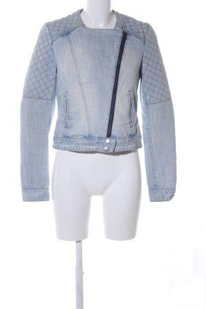 Pimkie Jeansjacke blau Steppmuster Casual-Look