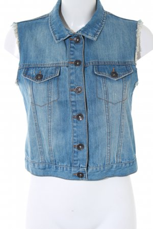 Pimkie Denim Vest azure-pale blue retro look